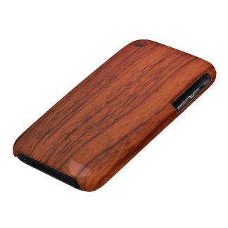 Impresión de madera de caoba iPhone 3 Case-Mate coberturas