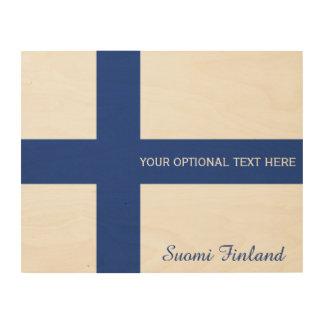 Impresión de madera de encargo de la bandera finla impresiones en madera