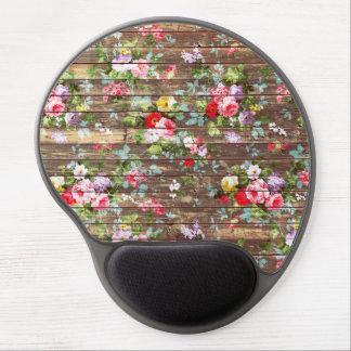 Impresión de madera de la foto de Brown de los ros Alfombrilla De Raton Con Gel