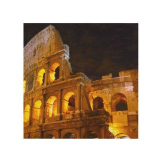 Impresión de madera del detalle de Roma, Colosseum Cuadro De Madera