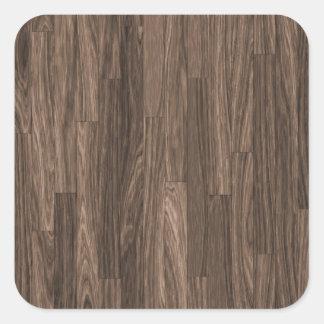 Impresión de madera del grano, modelo de madera pegatina cuadrada