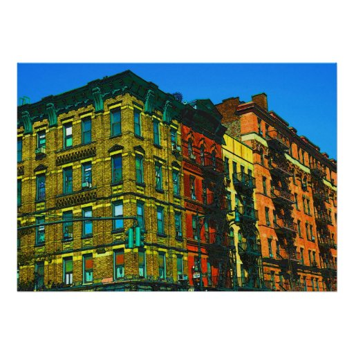 Impresión de Manhattan del lado oeste por el estud Posters