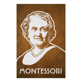 Impresión de Maria Montessori Poster