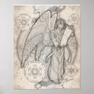 Impresión de Metatron del arcángel Poster