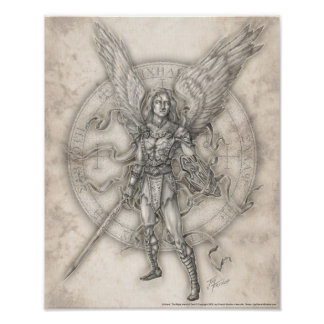 Impresión de Michael del arcángel Poster