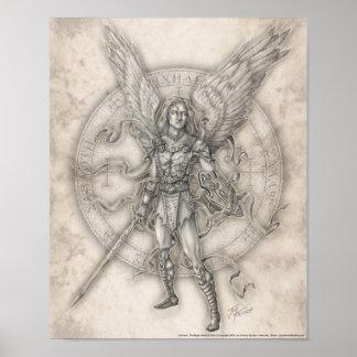 Impresión de Michael del arcángel Póster