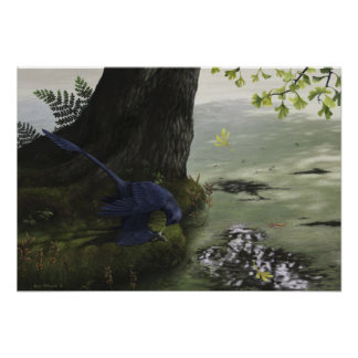 Impresión de Microraptor Piscivory Poster