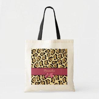 Impresión de moda de Jaguar con el arco y el Bolsa Tela Barata