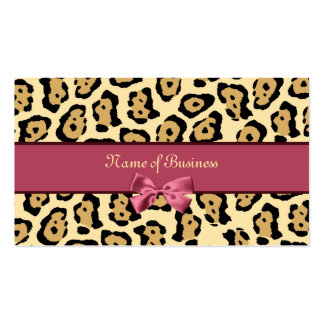 Impresión de moda de Jaguar con el nombre comercia Tarjetas De Visita