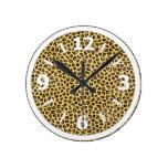 Impresión de moda del guepardo del leopardo relojes de pared