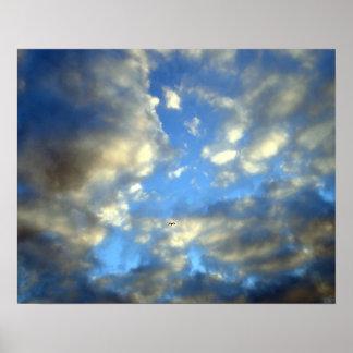Impresión de motivación azul del poster del cielo