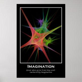 Impresión de motivación de la imaginación póster