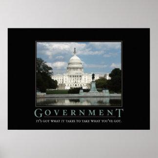 Impresión de motivación de la parodia del gobierno póster