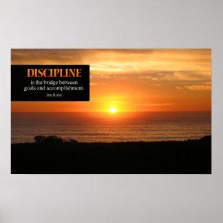 Impresión de motivación del poster de la disciplin