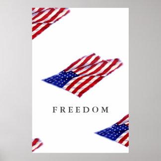 Impresión de motivación del poster de la libertad