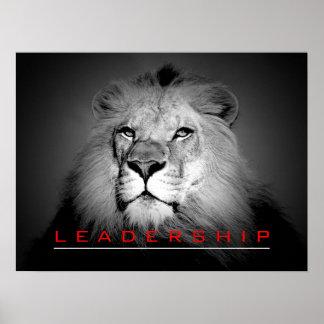 Impresión de motivación del poster del león del