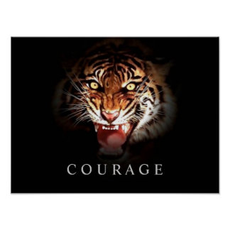 Impresión de motivación del poster del tigre del