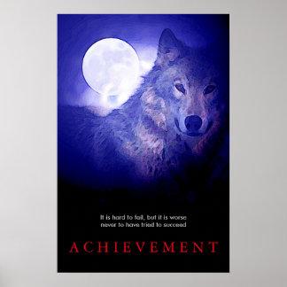 Impresión de motivación especial del lobo y del póster