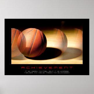 Impresión de motivación única del baloncesto del póster