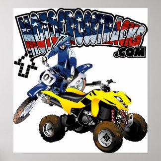 Impresión de MotocrossTracks Póster