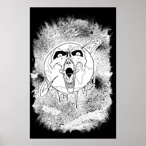 Impresión de muerte del planeta póster