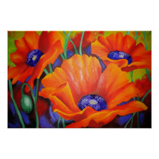 Impresión de naranja poster