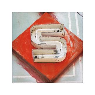 Impresión de neón de la lona de la letra S Lona Estirada Galerias