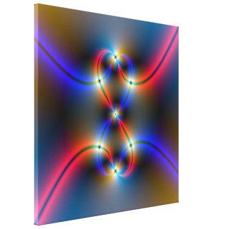 Impresión de neón infinita impresion de lienzo
