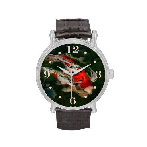 Impresión de Nishikigoi Reloj De Mano