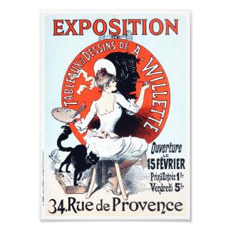 Impresión de Nouveau del arte de la exposición de  Cojinete