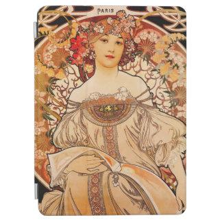 Impresión de Nouveau Mucha del arte del vintage Cover De iPad Air