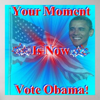 Impresión de Obama del voto Póster
