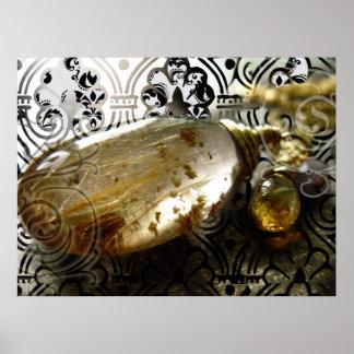 Impresión de oro de la piedra preciosa de los ruti poster