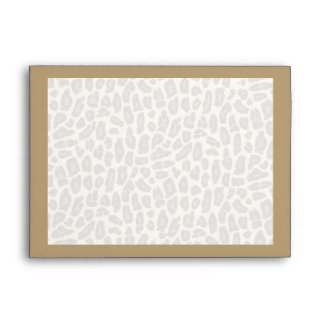 Impresión de oro de la piel del leopardo sobres