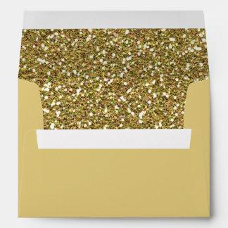 Impresión de oro de la textura del fondo del sobres