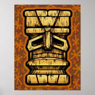 Impresión de oro de Tiki Poster