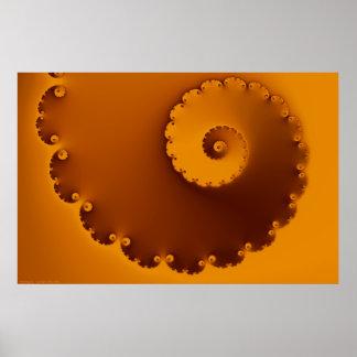 Impresión de oro del fractal de Shell Posters