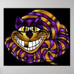 Impresión de oro del gato de Cheshire Impresiones