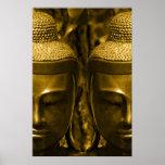 Impresión de oro del poster de Buda