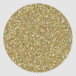 Impresión de oro gruesa de la textura del brillo pegatina