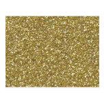 Impresión de oro gruesa de la textura del brillo tarjeta postal