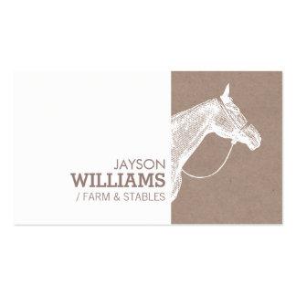 Impresión de pantalla moderna del caballo blanco tarjetas de visita