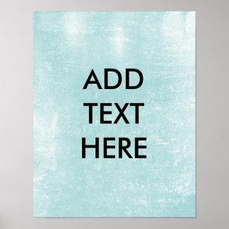 Impresión de papel azul clara personalizada del póster