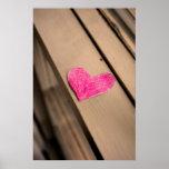 Impresión de papel de la fotografía del corazón poster
