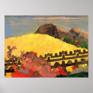 """Impresión de """"Parahi Te Marae"""" - Paul Gauguin Póster"""