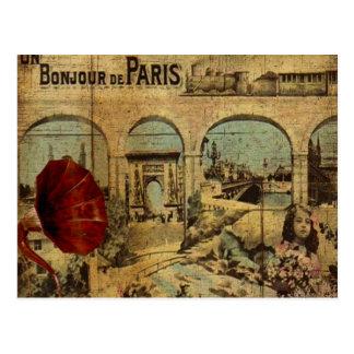 Impresión de París del vintage Postales