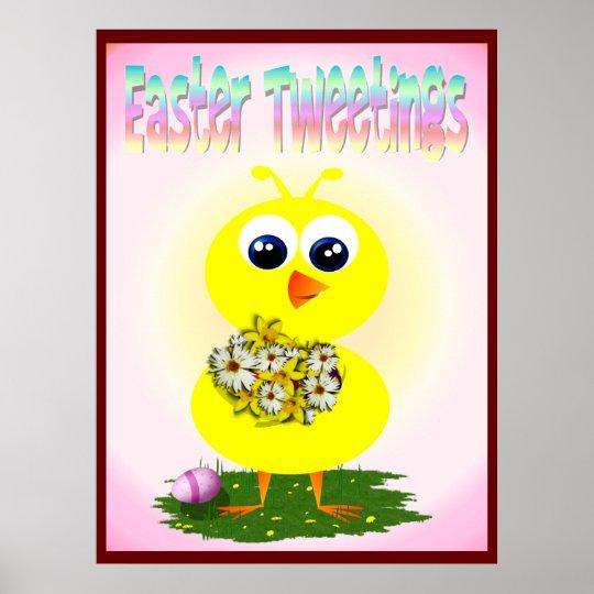 Impresión de Pascua Tweetings