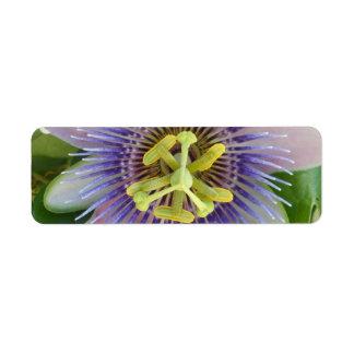 Impresión de Pasionflower Etiqueta De Remitente