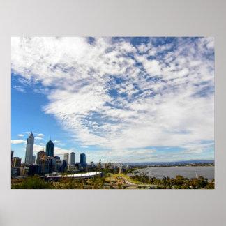 Impresión de Perth domingo en agosto Póster