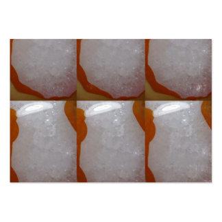 Impresión de piedra cristalina del fondo de la chi tarjetas personales
